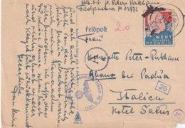 ALLEMAGNE 1942 FELDPOST KARTE CENSUREE POUR L'ITALIE - Germany