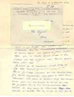 GUERRE 39-45 BATTERIE DE 75 De D.T.A. (Défense Aérienne Du Territoire) 44e Groupe  D.C.A. 137e Batterie LE HAVRE 2-11-39 - Marcofilie (Brieven)