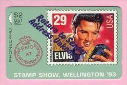 New Zealand - Private Overprint - 1993 Wellington Stamp Show - $2 Elvis Presley - Mint - NZ-CO-12 - Neuseeland