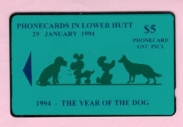 New Zealand - Private Overprint - 1994 Lower Hutt - $5 Year Of The Dog - Mint - NZ-CO-22 - Nouvelle-Zélande