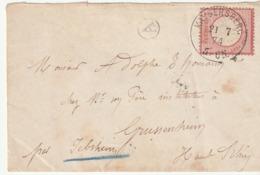 2 Lettres Allemagne / Empire Allemand / Reich Avec Timbre Aigle Pour Strasbourg Occupé , 1874 (2) - Allemagne