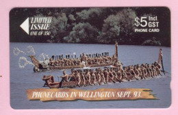 New Zealand - Private Overprint - 1993 Phonecards In Wellington - $5 Canoes - Mint - NZ-CO-13 - New Zealand