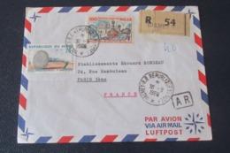 Niger Lettre Recommandée Avec A R    Du 30 09 1966  De Niamey Pour Paris - Niger (1960-...)