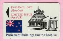 New Zealand - Private Overprint - 1994 Parliament Buildings $5  - Mint - NZ-CO-23 - New Zealand