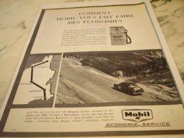 ANCIENNE  PUBLICITE  DAUPHINE ET ECONOMIE AVEC MOBIL 1961 - Other