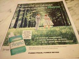 ANCIENNE PUBLICITE FRAICHEUR MENTHOL  CIGARETTE  REYNO  1961 - Raucherutensilien (ausser Tabak)