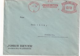 ALLEMAGNE 1936 LETTRE EMA DE WANDSBEK - Germania
