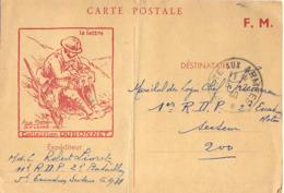 GUERRE 39-45 Sur CP DUBONNET - 11e R.D.P. (RÉGIMENT DE DRAGONS PORTÉS) 2e BATAILLON 5e ESCADRON SP 6.931 Du 1-2-1940 - Marcophilie (Lettres)