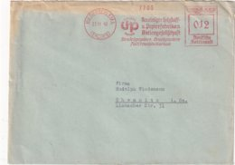 ALLEMAGNE 1940 LETTRE EMA DE NIEDERSCHLEMA - Germania
