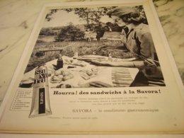 ANCIENNE PUBLICITE EN TUBE SAVORA 1961 - Posters