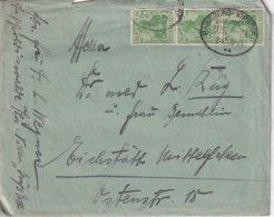 ALLEMAGNE 1921 LETTRE AVEC CACHET FERROVIAIRE/ZUGSTEMPEL  HAINSBERG-KIPSDORF - Germany