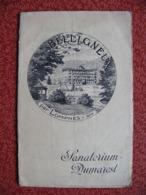 Livret Le Sanatorium Dumarest à LOMPNES Belligneux Ain Hauteville - Dépliants Touristiques