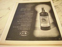 ANCIENNE PUBLICITE DOCUMENT SECRET ET DUBONNET VIN TONIQUE 1961 - Alcohols