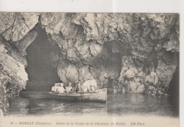 CPA-29-Finistère- MORGAT- Sortie De La Grotte De La Cheminée Du Diable- - Morgat