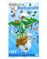 Ref. 260457 * MNH * - NEW CALEDONIA. 2010. INTERNATIONAL YEAR OF BIODIVERSITY . AÑO INTERNACIONAL DE LA BIODIVERSIDAD - Ungebraucht