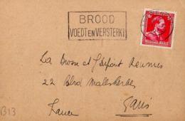 B13 Belgique Lettre De Thomas Meadows & Co Du 17-11-1939 Avec Flamme, Cachet Poste. Postée à Anvers En Belgique - Flammes