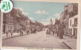 53 - Très Belle Carte Postale Ancienne De Pré En Pail  Grande Rue - Pre En Pail