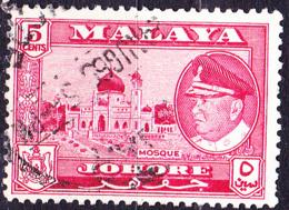 Malaiische Staaten V - Johore - Sultan Ismail Ibn Sultan Ibrahim Moschee (MiNr:  146) 1960 - Gest Used Obl - Johore