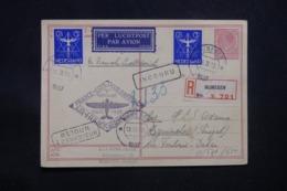 PAYS BAS - Entier Postal + Compléments En Recommandé De Numegen Pour Dakar En 1937 Par Voie Aérienne Française - L 43331 - Entiers Postaux