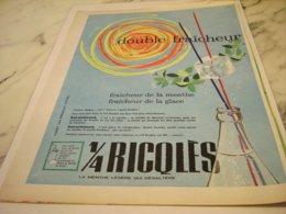ANCIENNE PUBLICITE DOUBLE FRAICHEUR  DE RICQLES  1951 - Posters