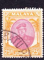 Malaiische Staaten V - Johore - Sultan Ismail Mit Brille (MiNr:  128) 1949 - Gest Used Obl - Johore