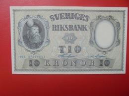 SUEDE 10 KRONOR 1955 PEU CIRCULER/NEUF (B.6) - Schweden