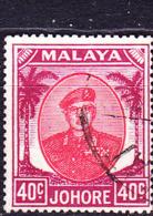 Malaiische Staaten V - Johore - Sultan Ismail Mit Brille (MiNr:  131) 1949 - Gest Used Obl - Johore