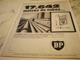ANCIENNE PUBLICITE 17642 METRE DE TUBES ET  HUILE BP  1961 - Other