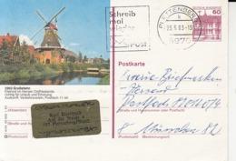 ARCHITECTURE, WINDMILLS, POSTCARD STATIONERY, 1983, GERMANY - Windmills