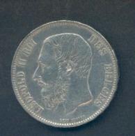 LEOPOLD II - 5 Francs 1873 « PROTEGE » Plus Espacé - 09. 5 Francs