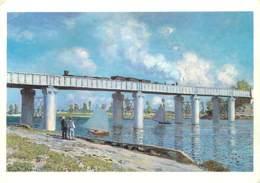 95 - Argenteuil - Claude Monet - Le Pont Du Chemin De Ter à Argenteuil - Art Peinture - Voir Scans Recto-Verso - Argenteuil