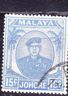 Malaiische Staaten V - Johore - Sultan Ismail Mit Brille (MiNr:  125) 1949 - Gest Used Obl - Johore