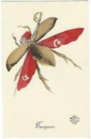 TURQUIE Insecte Papillon Aux Alliés Grande Guerre 14-18 Surréalisme Patriotique Satirique - War 1914-18