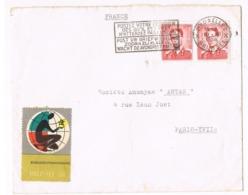 TIMBRES 1956 BELGIQUE SUR LETTRE OBLITÉRÉS - Covers & Documents
