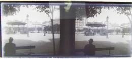 BREST Vers 1900 : Kiosque Du Champ De Bataille. Plaque Verre Stéréoscopique. Négatif. - Diapositiva Su Vetro