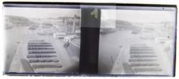 BREST Vers 1900 : Le Port De Commerce (?), Usine. Plaque De Verre Stéréoscopique. Négatif. - Diapositiva Su Vetro