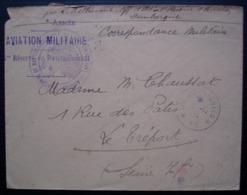 Aviation Militaire 1ere Réserve De Ravitaillement N°8 Secteur 15, 1914, Dunkerque Pour Le Tréport - Storia Postale