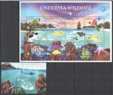 W943 ANTIGUA & BARBUDA UNDERSEA WILDLIFE #2740-51 MICHEL 13,5 EURO BL+SH MNH - Meereswelt
