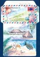 POLYNESIE 1989 - Yv. Aérogramme  8 ** SUP  Cote= 13,00 EUR - Hibiscus, Frangipanier, Oiseaux, Bananier, …  ..Réf.POL2428 - Aérogrammes