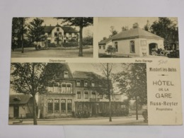 Mondorf-les-bains, Hôtel De La Gare. Auto-Garage. Éd. N. SCHUMACHER - Postcards