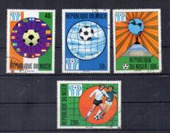 NIGER - Calcio - 4 Valori - Usati - (FDC17444) - Niger (1960-...)