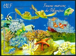 POLYNESIE 2013 - Yv. BF 39 (1029 à 1032) ** SUP  Cote= 4,70 EUR - Faune Marine.Journée De L'Océan  ..Réf.POL24283 - Blocs-feuillets