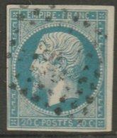 FRANCE - N°14 - Variété POSTFS - L03 - 1853-1860 Napoleon III