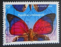 3332 France 2000 Oblitéré  Nature De France Papillon Sardanapale - France