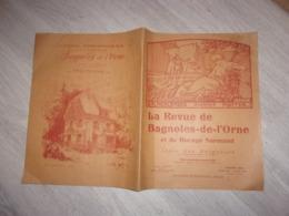 NORMANDIE  RARE  1926 LA REVUE DE BAGNOLES DE L ORNE ET BOCAGE NORMAND  AVEC LISTE DES BAIGNEURS EN RESIDENCE PUB - Normandie