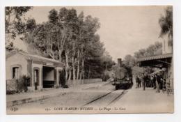- CPA HYÈRES (83) - La Plage - La Gare - Edition Le Deley 151 - - Hyeres