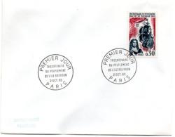 MARINE = PARIS 1965 = CACHET PREMIER JOUR + N° 1461 = TRICENTENAIRE PEUPLEMENT ILE BOURBON - FDC