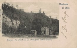 Environs De Huy - Ruines Du Château De Beaufort - Ben-Ahin - 2 Scans - Huy