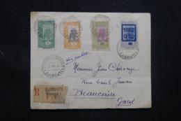 CÔTE DES SOMALIS - Enveloppe En Recommandé De Djibouti Pour La France En 1930 , Affranchissement Plaisant - L 43350 - Côte Française Des Somalis (1894-1967)
