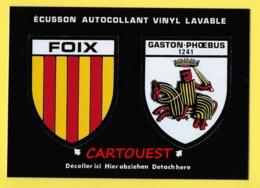 09 - COMTE DE FOIX- BLASON -ECUSSON HERALDIQUE  ♦♦☺ECUSSON AUTOCOLLANT VINYL LAVABLE - Foix